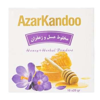دمنوش عسل و زعفران آذرکندو بسته 10عددی