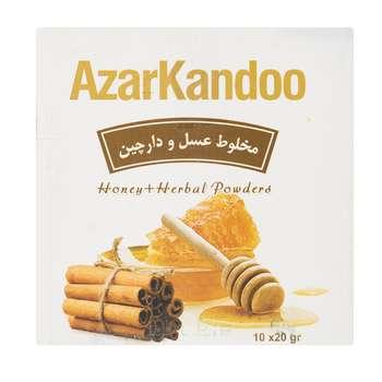 دمنوش مخلوط عسل و دارچین آذرکندو بسته 10عددی