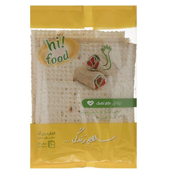 نان لواش کم نمک های فود مقدار 300 گرم