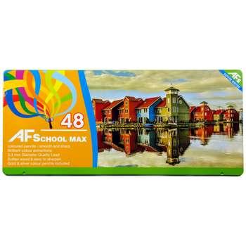 مداد رنگی 48 رنگ ای اف اسکول مکس طرح انعکاس در آب
