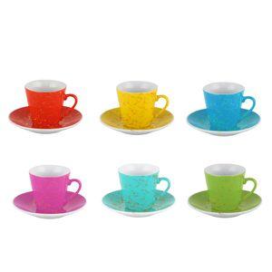 ست فنجان و نعلبکی 12 پارچه وینیکا مدل رنگین کمان