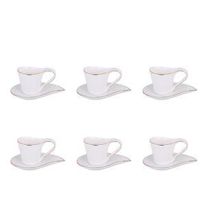 ست فنجان و نعلبکی 12 پارچه وینیکا مدل اشک