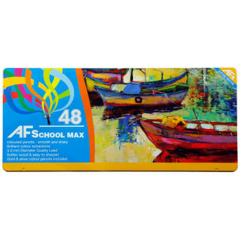 مداد رنگی 48 رنگ ای اف اسکول مکس طرح قایقها