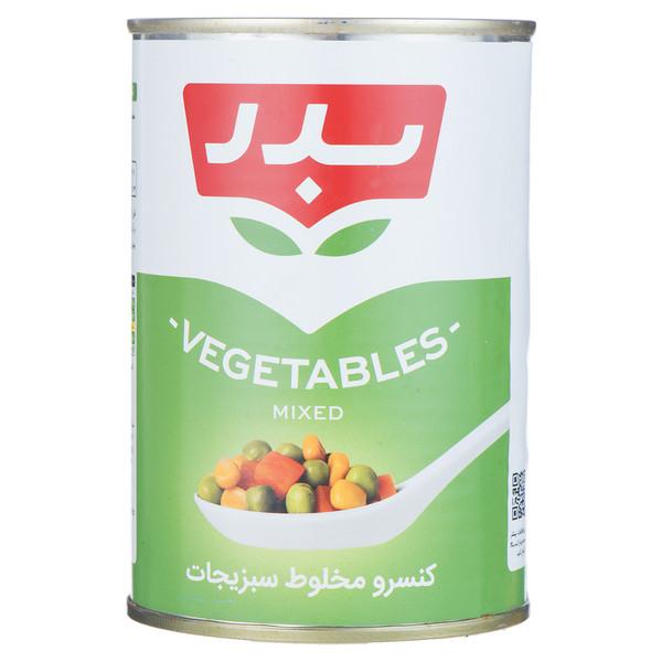 کنسرو مخلوط سبزیجات بدر مقدار 430 گرم