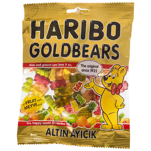 پاستیل هاریبو مدل Golden Bears مقدار 130 گرم