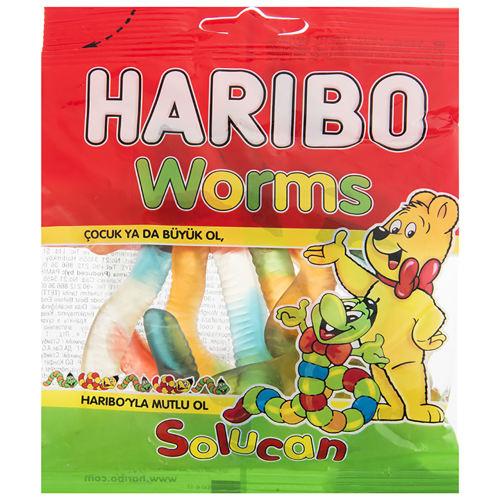 پاستیل هاریبو مدل Worms مقدار 70 گرم