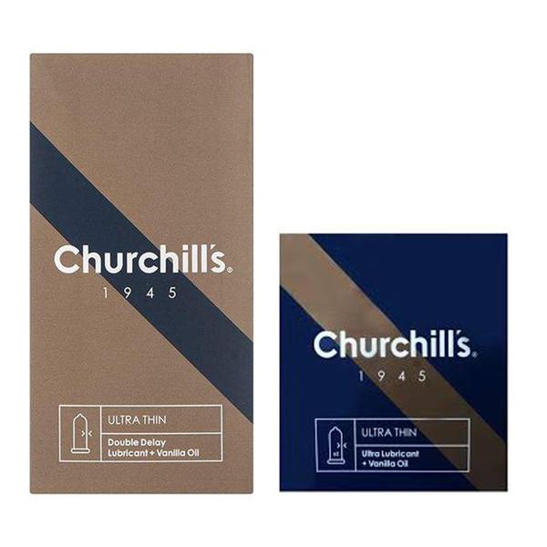 کاندوم چرچیلز مدل Ultra Thin بسته 12 عددی به همراه کاندوم مدل Ultra Lubricant بسته 3 عددی