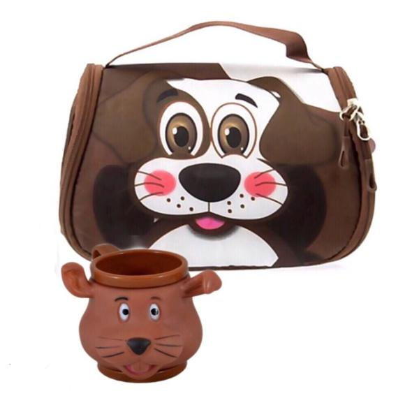 کیف نهاری کودک مدل سگ به همراه لیوان طرح سگ