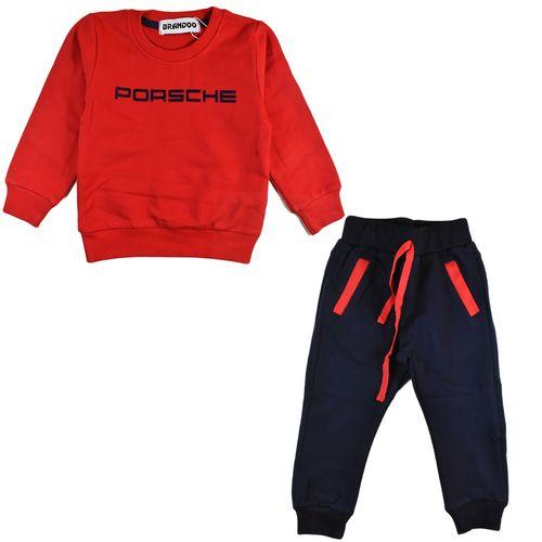 تی شرت و شلوار پسرانه برندو مدل RedPorsche
