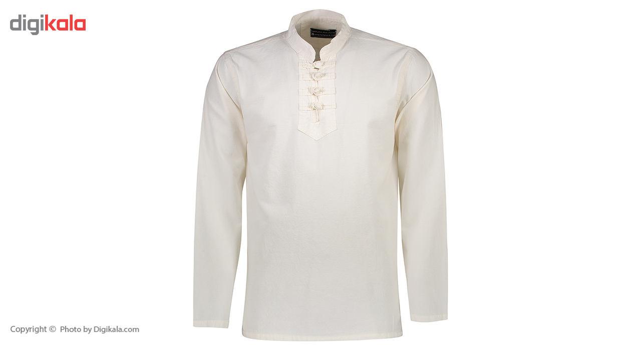 پیراهن الیاف طبیعی اصیل جامه مدل 3001 main 1 1