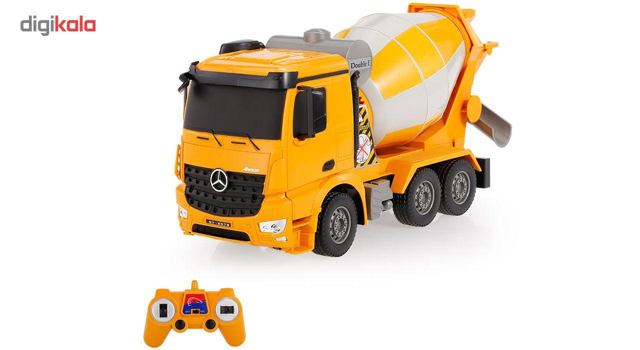 ماشین بازی کنترلی دبل ای مدل Mercedes Benz Cement Mixer