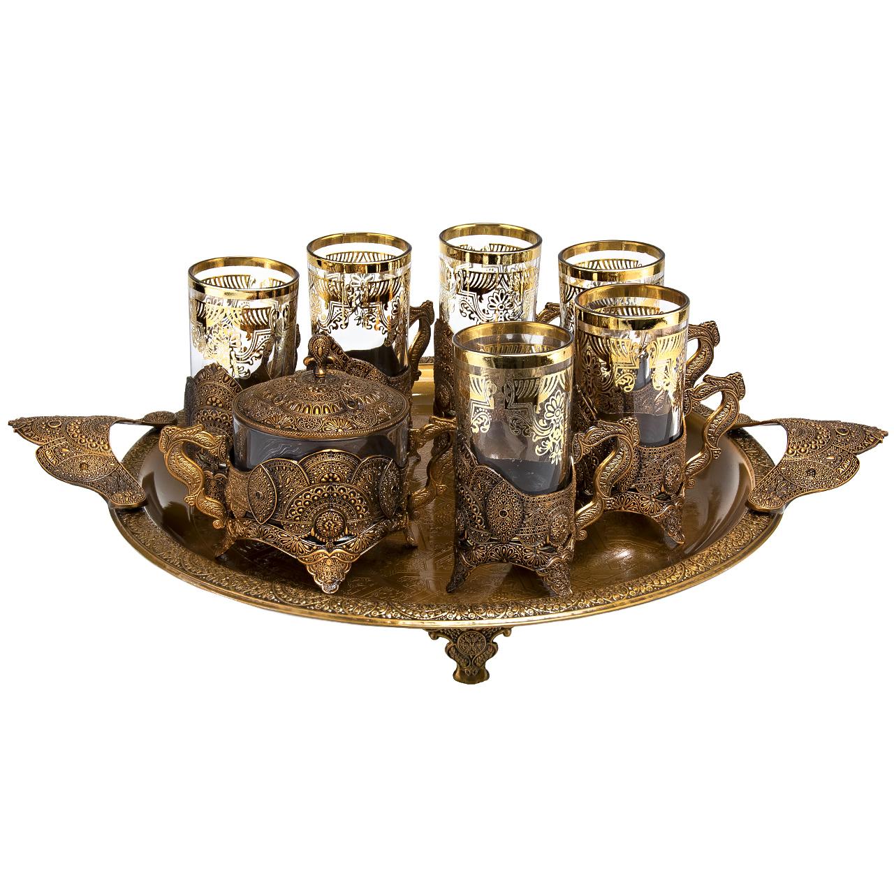 عکس سرویس چای خوری 14 پارچه مدل 1729