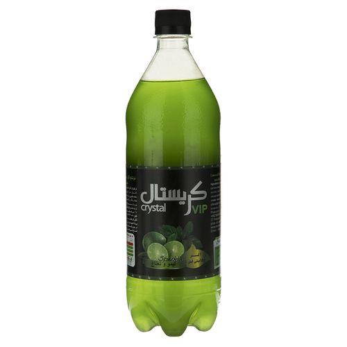 نوشابه گازدار با طعم لیمو و نعناع کریستال مقدار 1 لیتر
