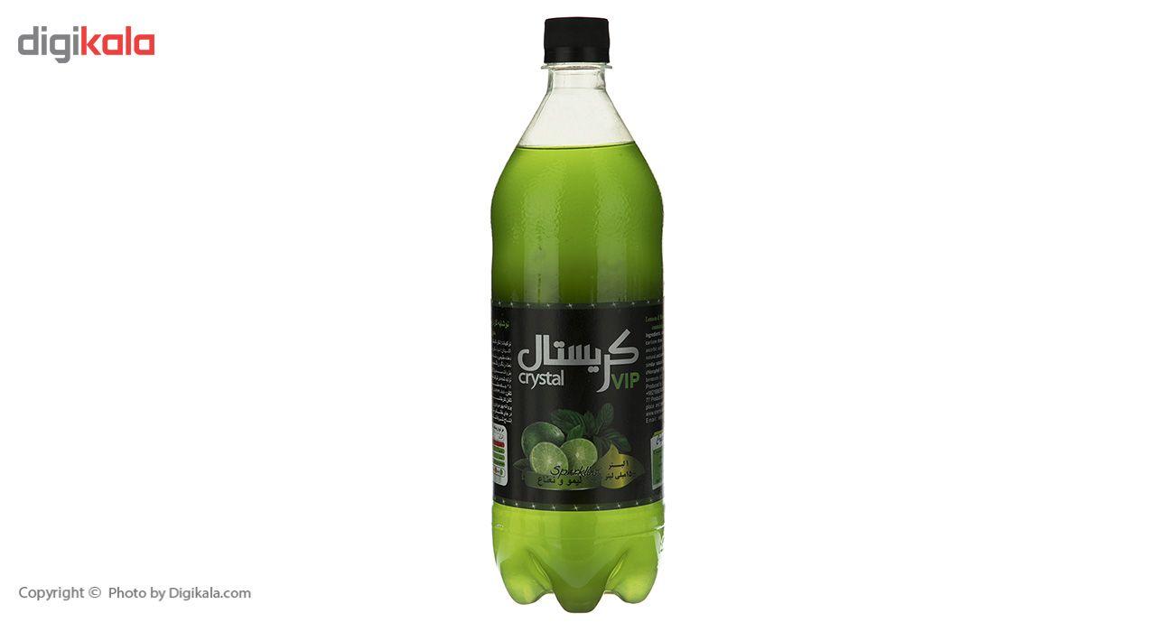 نوشابه گازدار با طعم لیمو و نعناع کریستال - 1 لیتر main 1 2