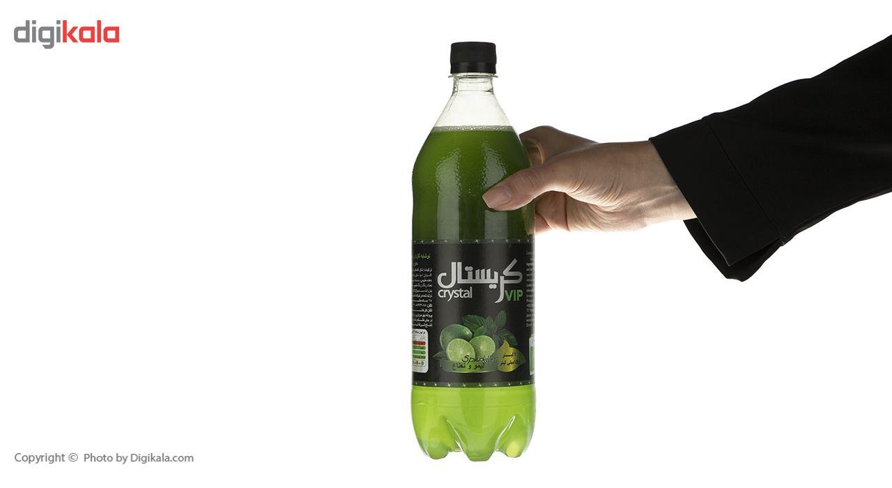 نوشابه گازدار با طعم لیمو و نعناع کریستال - 1 لیتر main 1 3