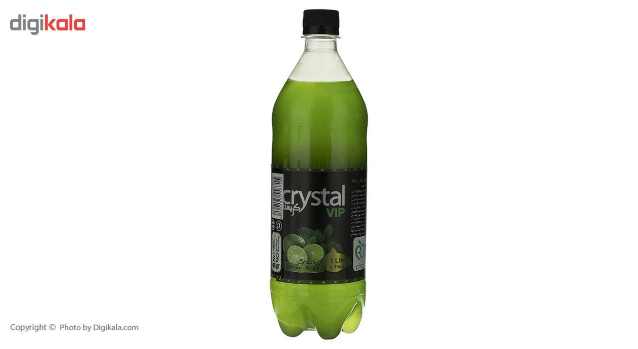 نوشابه گازدار با طعم لیمو و نعناع کریستال - 1 لیتر main 1 4