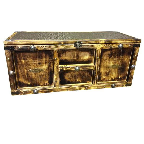 صندوق چوبی میکا مدل آنتیک