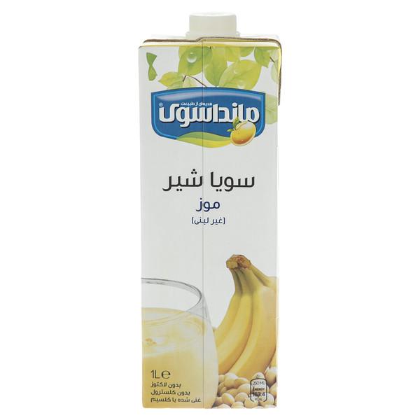 شیرسویا موز مانداسوی مقدار 1 لیتر
