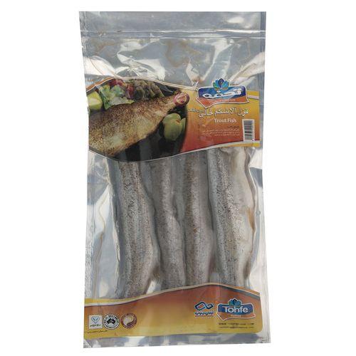 ماهی قزل آلا شکم خالی منجمد تحفه مقدار 1000 گرم