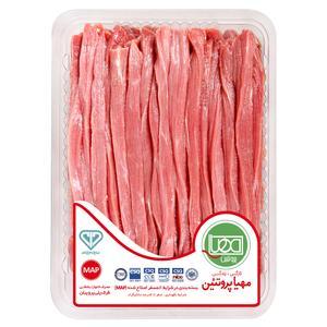 گوشت بیف استراگانف گوساله مهیا پروتئین مقدار 0.5 کیلوگرم