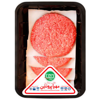 همبرگر چرخ کرده تازه مهیا پروتئین مقدار 0.5 کیلوگرم