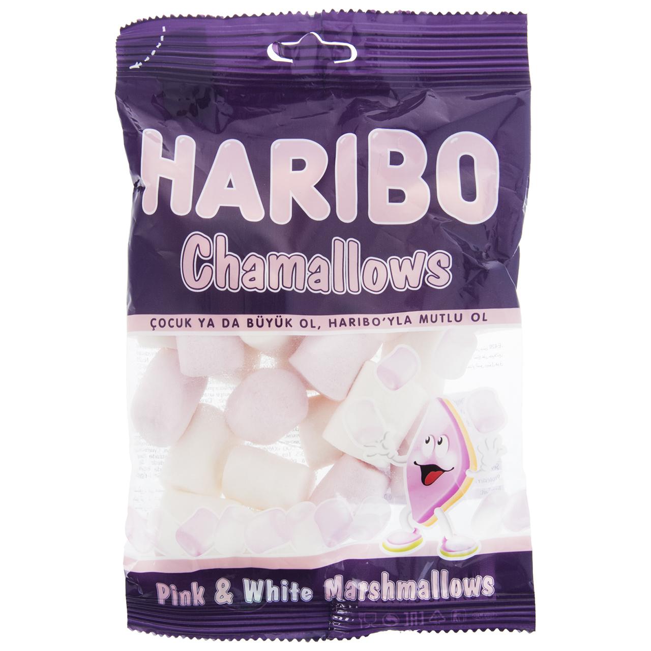 تصویر مارشمالو هاریبو مدل Chamallows مقدار 150 گرم Haribo Chamallows Marshmallows 150gr