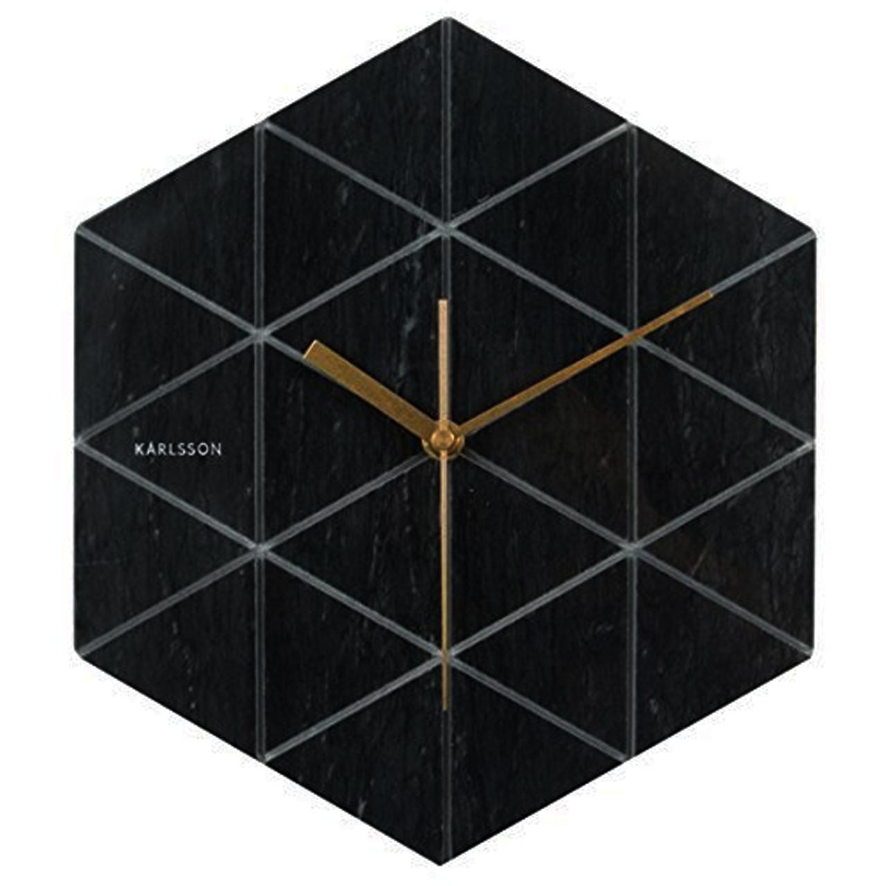 خرید ساعت دیواری کارلسون مدل Marble Hexagon