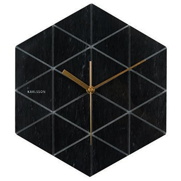 ساعت دیواری کارلسون مدل Marble Hexagon