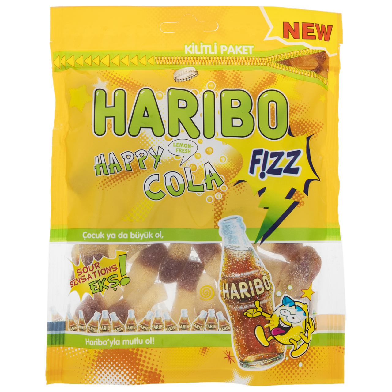 پاستیل هاریبو مدل Happy Cola Fizz مقدار 200 گرم