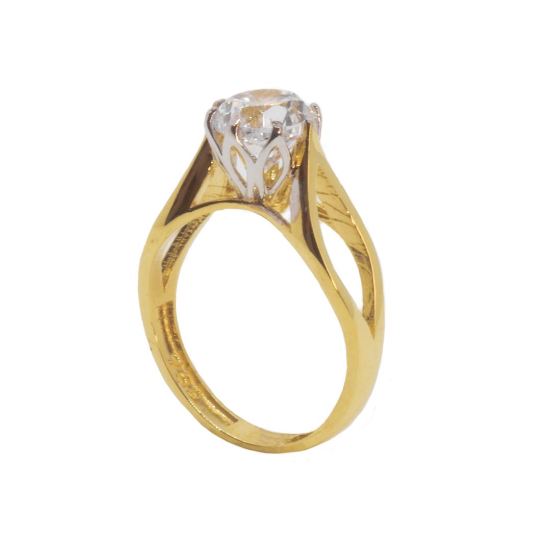 انگشتر طلا 18 عیار زنانه مدل B0013