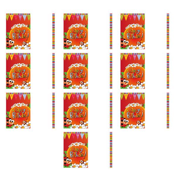 کارت دعوت به تولد گالری نفیس مدل NKD1 بسته 10 عددی