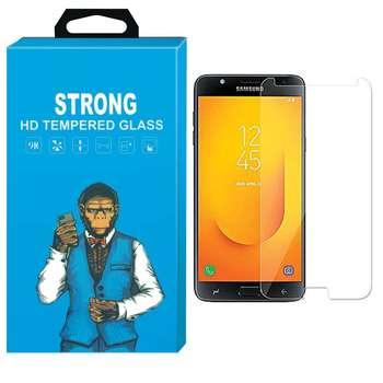 محافظ صفحه نمایش شیشه ای تمپرد مدل Strong مناسب برای گوشی سامسونگ گلکسی J7 Duo