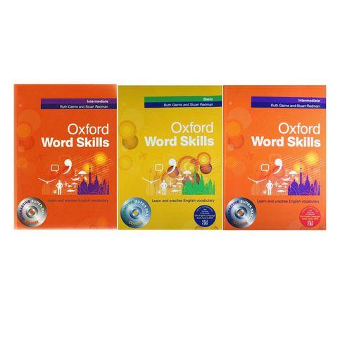 کتاب زبان انگلیسی Oxford word skills Basic/Intermadiate/Advanced اثر Ruth Gairns مجموعه 3 عددی