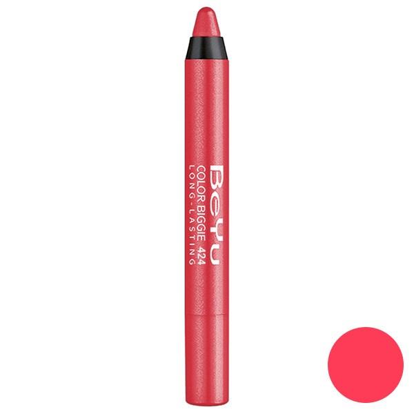 رژ لب مدادی 2 کاره بی یو مدل Color Biggie for Lip and More 424