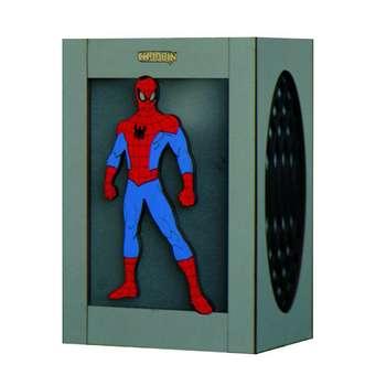 چراغ خواب دیواری کودک چوبین مدل مرد عنکبوتی