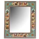 آینه رومیزی با قاب خاتم کاری  گالری مثالین کد 141221