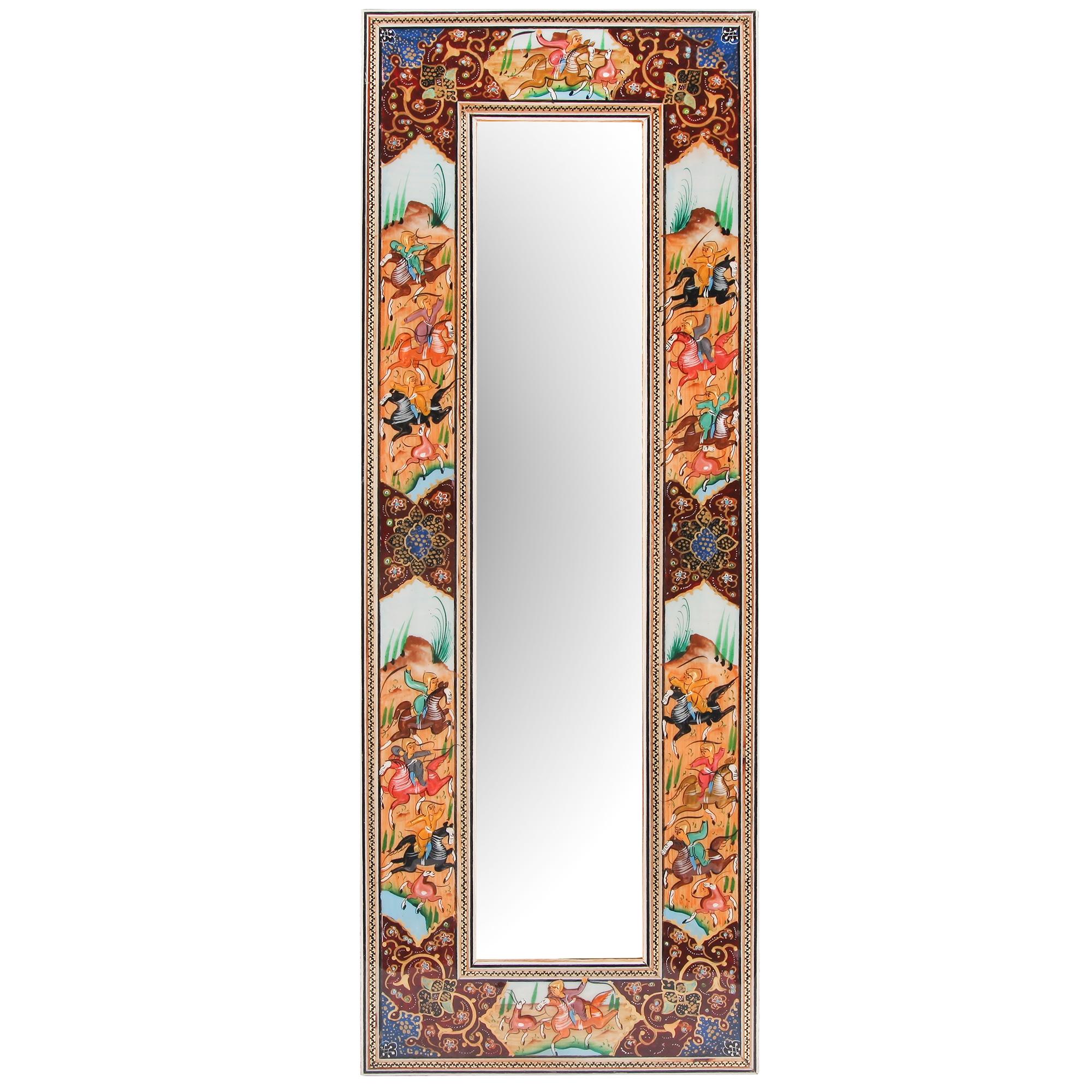 آینه با قاب خاتم کاری  گالری مثالین کد 141223