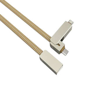 کابل تبدیل USB به microUSB/لایتنینگ الدینیو مدل LC87 طول 1 متر