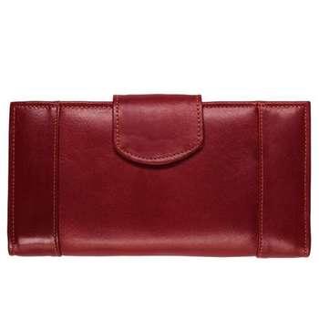 کیف پول زنانه رویال چرم کد W18-Crimson