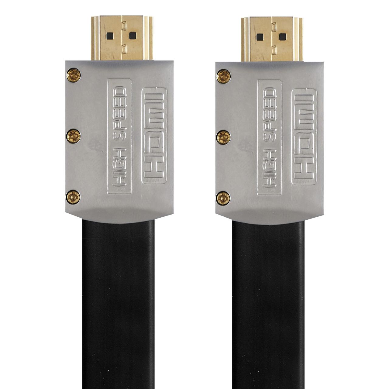خرید اینترنتی کابل تخت HDMI 2.0 کی نت پلاس مدل KP-HC169 به طول 20 متر اورجینال