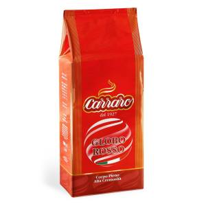 بسته دانه قهوه کارارو مدل GLOBO ROSSO  مقدار  1000 گرم