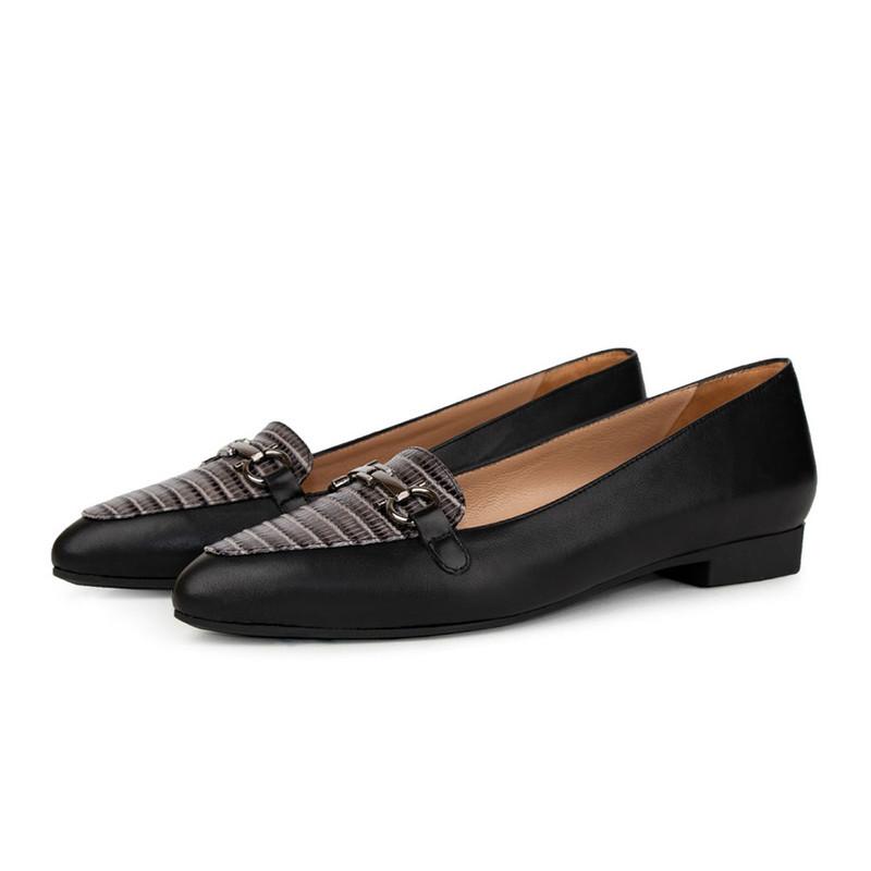 کفش زنانه چرم کروکو مدل 200100200032