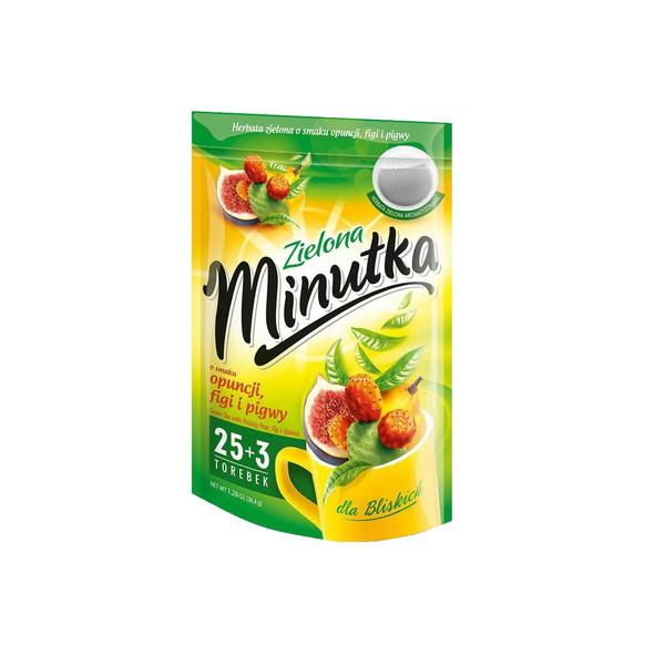 چای سبز مینوتکا مدل مخلوط با طعم به انجیر مقدار 36 گرمی