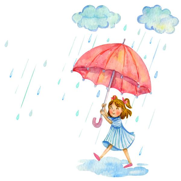 استیکر دیواری سالسو طرح rainy girl h.k