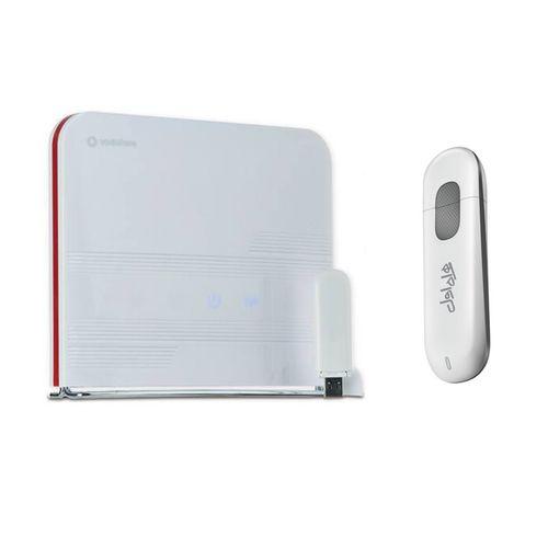 مودم 4G ودافون مدل Station به همراه مودم دانگل 3G USB هوآوی مدل E303 FH