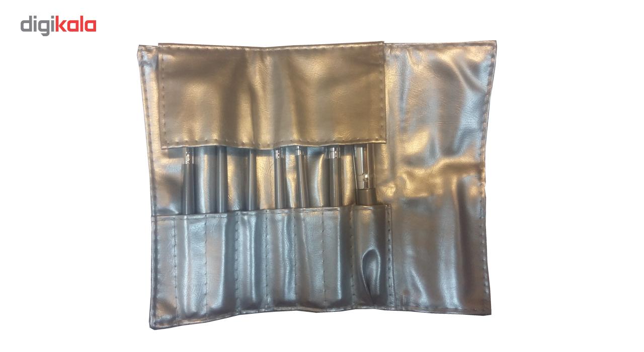 ست برس آرایشی مدل 111 بسته 7 عددی به همراه کیف آرایشی