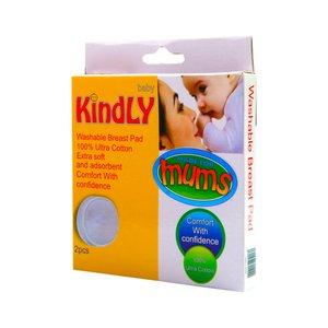 پد سینه قابل شستشو بیبی کایندلی مدل مامز بسته 2 عددی