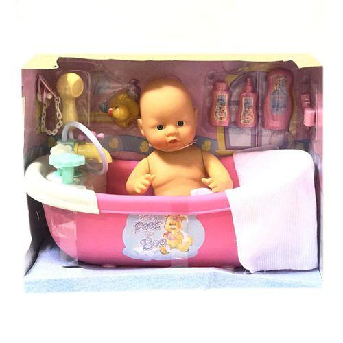 عروسک نوزاد سری Bathroom کد 15338 ارتفاع 35 سانتی متر