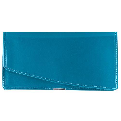 کیف پول زنانه رویال چرم کدW10-Turquoise
