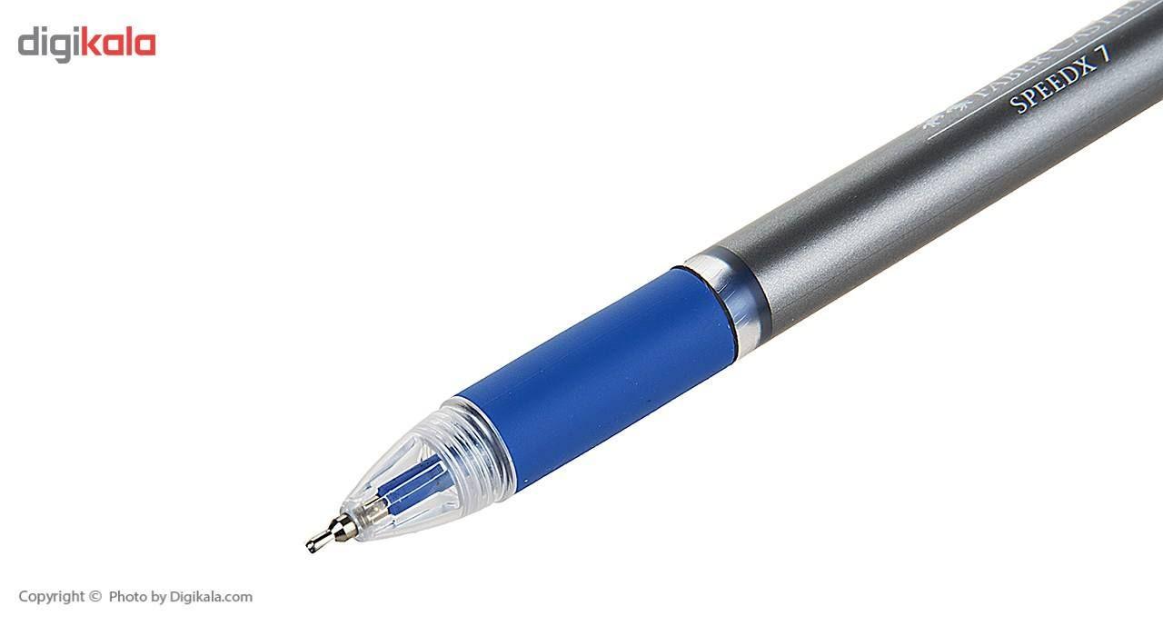 خودکار آبی فابر کاستل مدل Speedx 7 بسته 4 عددی main 1 3